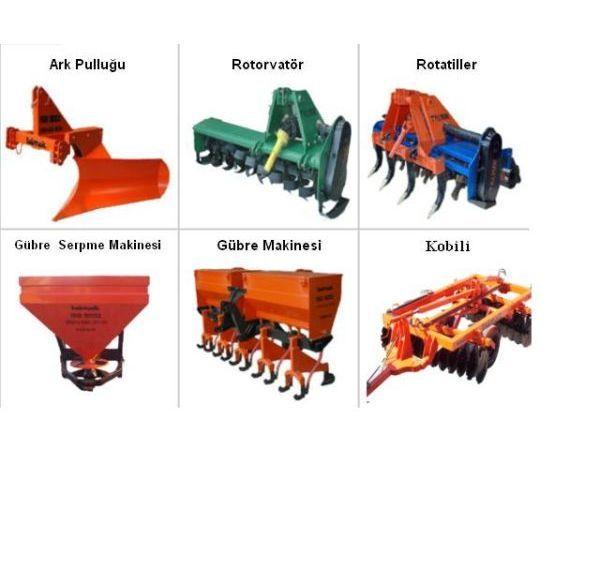 Ürün açıklaması ark pulluğu rotovatör rotatiller gübre
